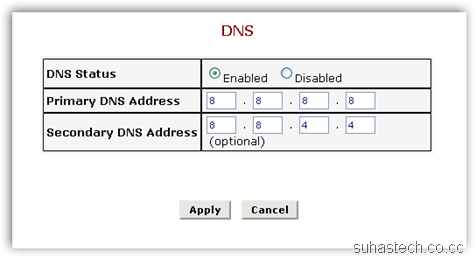 Modem DNS