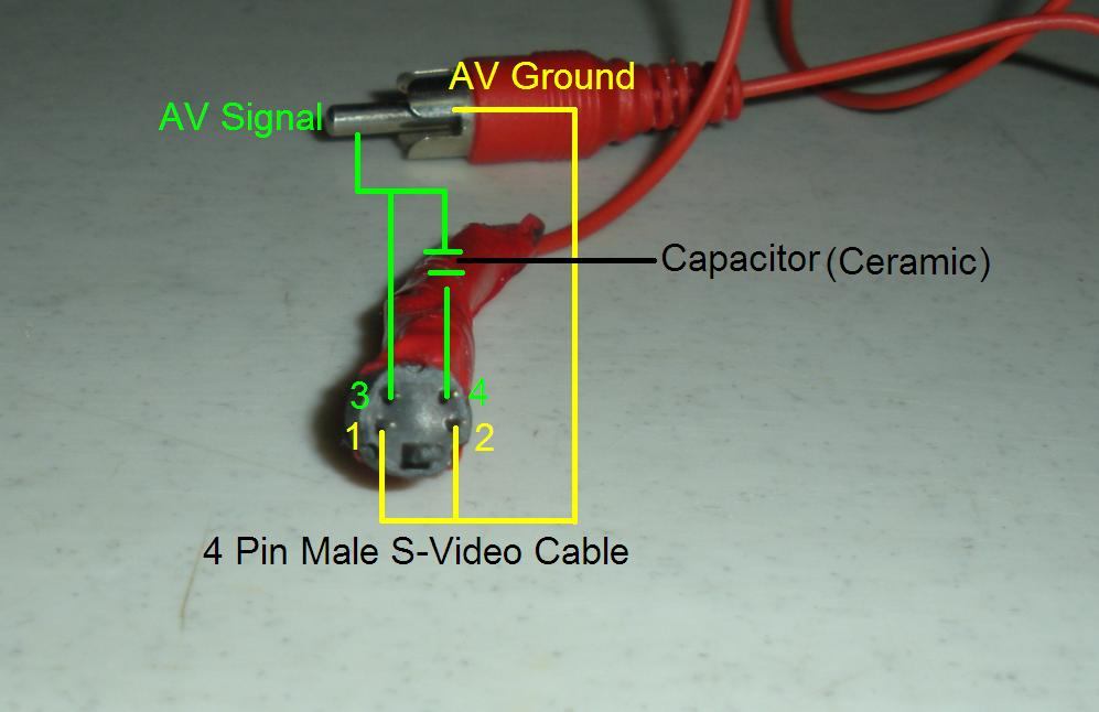 Svideo rca do it yourself s video to rca (composite) cable adapter Pioneer Car Stereo Wiring Diagram at webbmarketing.co