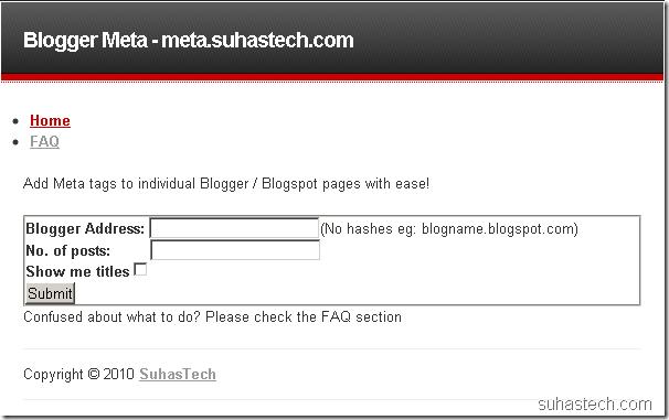 blogger meta