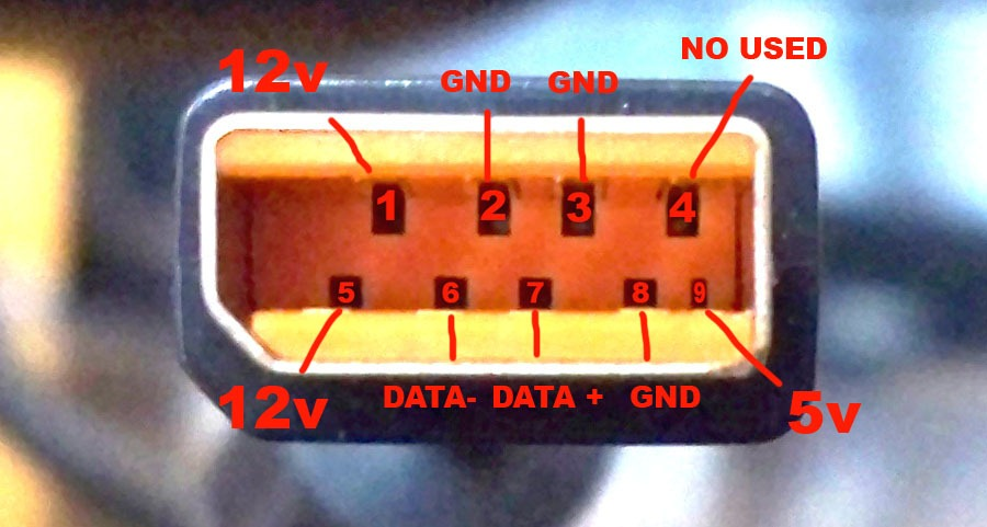 kinect_pinout_neat_way5B55D diy] kinect ac power adapter connector for the old xbox 360 xbox 360 kinect wiring diagram at virtualis.co